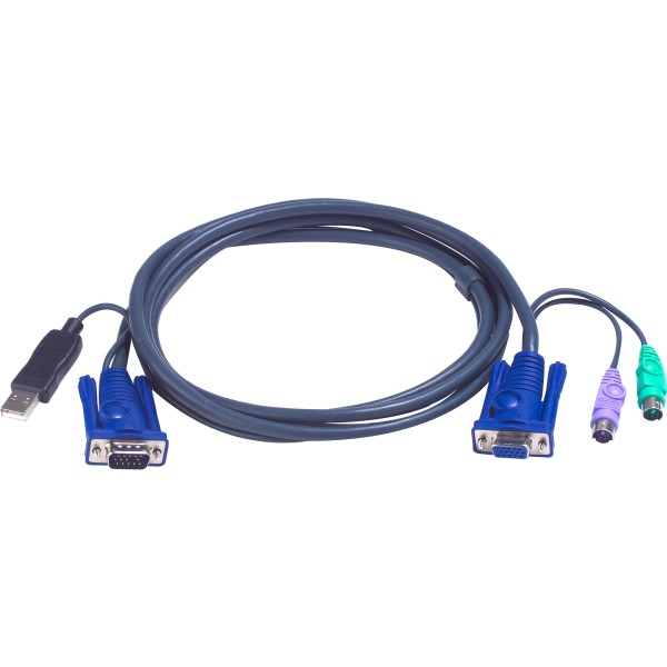 ATEN 2L-5503UP KVM Kabelsatz, VGA, PS/2 zu USB, Länge 3m