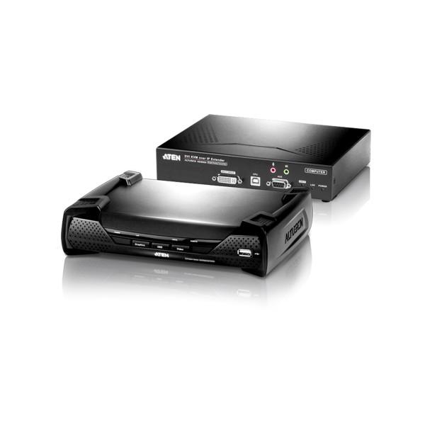 ATEN KE6900 KVM-Over-IP-Extender, DVI-I, RS232, USB, mit Audio