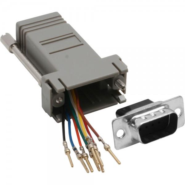 InLine® Adapter, 9pol Sub D Stecker an RJ45 Buchse