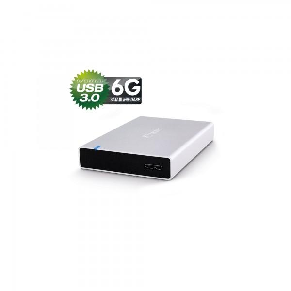 """FANTEC ALU15MMU3, 2.5"""" Gehäuse, USB 3.0, silber"""