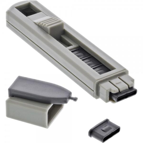 InLine® USB Typ-C Portblocker, blockt bis zu 6 Ports