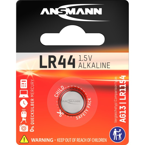ANSMANN 5015303 Knopfzelle LR44 1,5V Alkaline