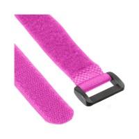 InLine® Klettschlaufen 20x200mm, 10er, pink