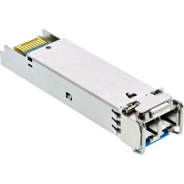 InLine SFP Modul LWL LX 1310nm Singlemode mit LC Buchsen, 20km, 1,25Gbit/s