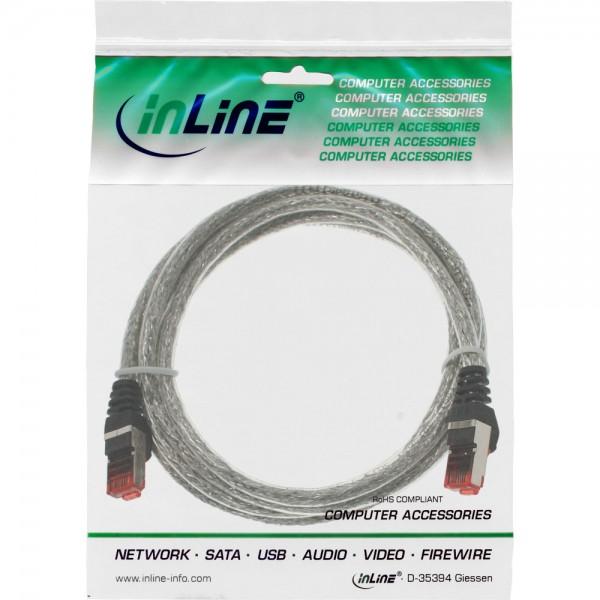 InLine® Patchkabel, S/FTP (PiMf), Cat.6, 250MHz, PVC, Kupfer, transparent, 1,5m