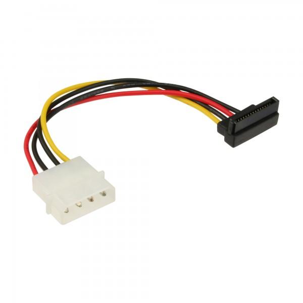 """InLine® SATA Stromadapterkabel, 1x 13,34cm (5,25"""") Buchse an 15pol SATA Stecker, nach unten abgewinkelt"""