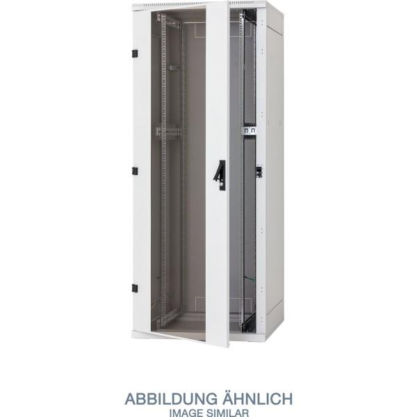 "Triton RZA-45-A88-CAX-A1 19"" Netzwerkschrank 45HE, 800x800mm, Glastür, grau"