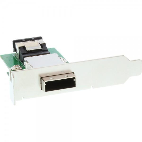 InLine® SAS low profile Slotblech, ext. SFF-8088 auf int. SFF-8087