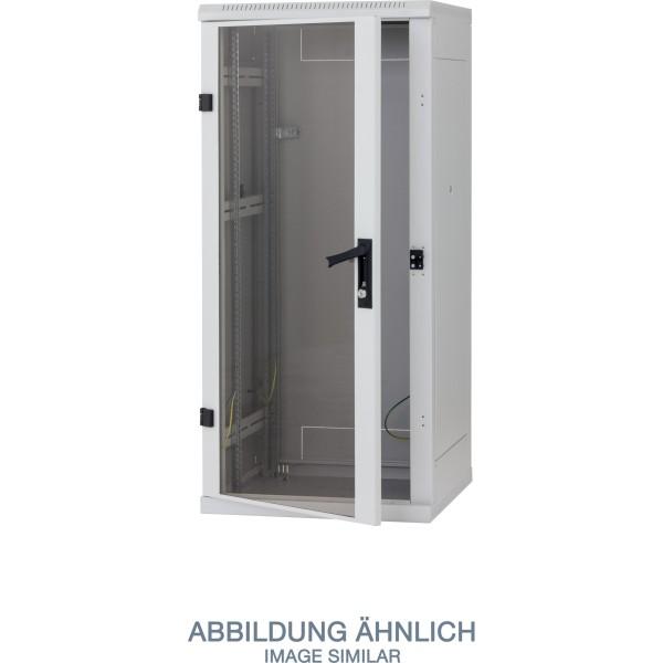 "Triton RMA-27-A66-CAX-A1 19"" Netzwerkschrank 27HE, 600x600mm, Glastür, grau"