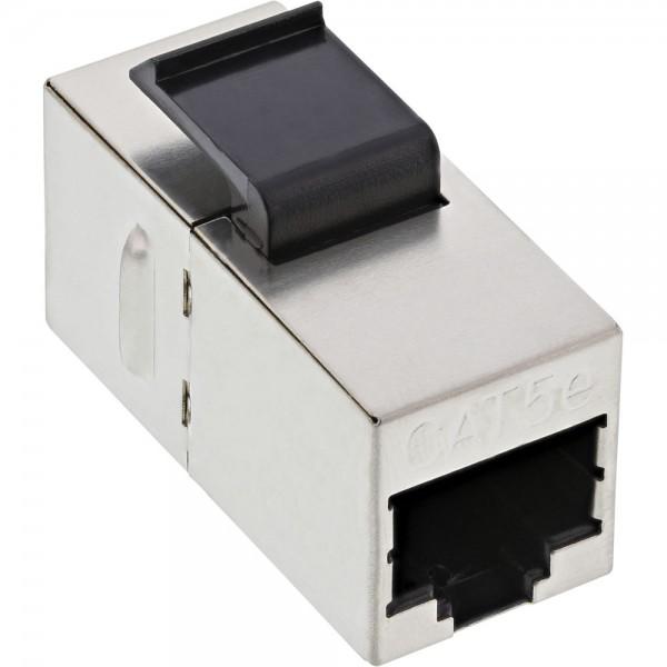 InLine® Keystone RJ45 Buchse / Buchse Einsatz, SNAP-In, Cat.5e