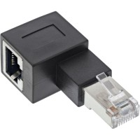 InLine® RJ45 Adapter Cat.6A, RJ45 Stecker / Buchse, 90° nach links gewinkelt