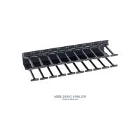 Triton RAB-VP-H42-X1 Kabelführungspanel 42HE, Kamm zweireihig, schwarz