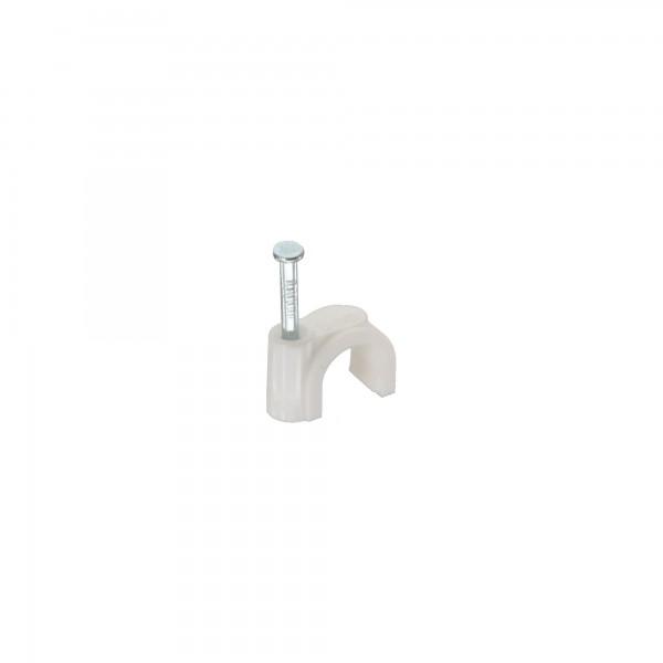 InLine® Kabelschelle 8mm rund, weiß, 50 Stück