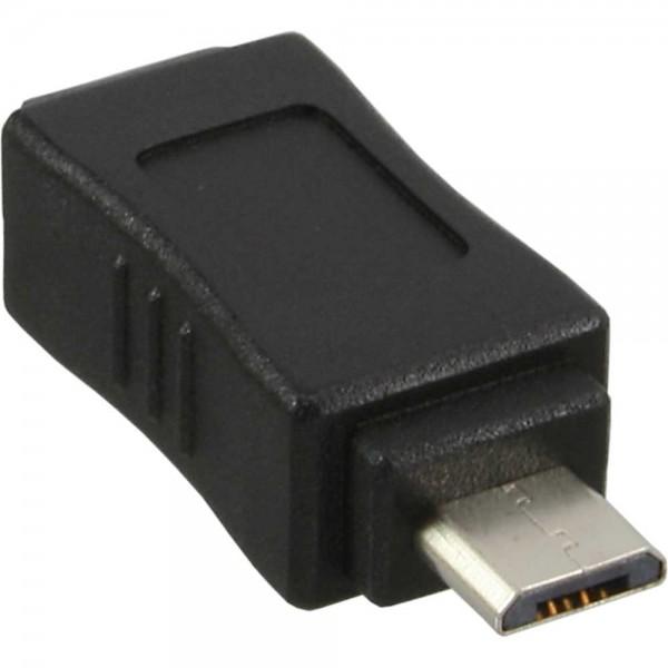 InLine® Micro-USB Adapter, Micro-B Stecker an Mini USB 5-pol Buchse