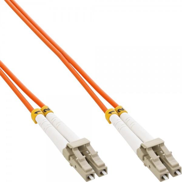 InLine® LWL Duplex Kabel, LC/LC, 50/125µm, OM2, 10m