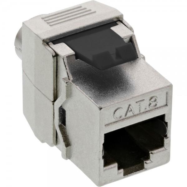 InLine® Keystone RJ45 Buchse / LSA Einsatz, SNAP-In, Cat.8.1, schmale Bauform