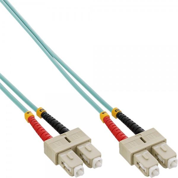 InLine® LWL Duplex Kabel, SC/SC, 50/125µm, OM3, 15m