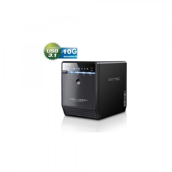 "FANTEC QB-35U31 Storagegehäuse 4x3,5"" SATA HDD/SSD, USB3.1, Typ-C, 10G"