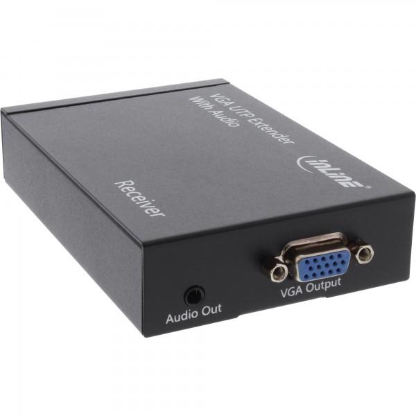 InLine® VGA Extender/Empfänger über UTP, mit Audio, bis 300m