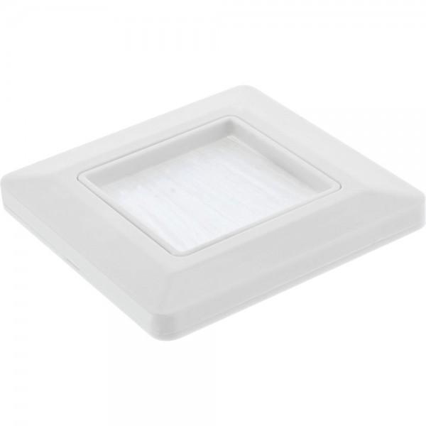 InLine® Rahmen mit Bürstendurchlass, für TV, weiß RAL9010