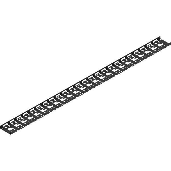 Triton RAB-VP-X53-X1 Kabelführungspanel für 1000mm tiefen Schrank, schwarz