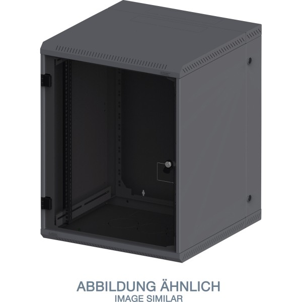 "Triton RBA-12-AD5-BAX-A1 19"" Wandschrank 12HE, 600x515mm, zweiteilig, schwarz"