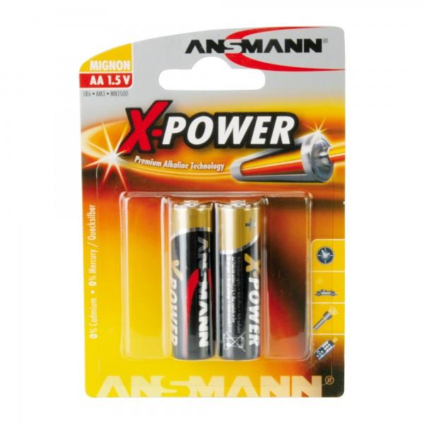 ANSMANN 5015613 Alkaline Batterie Mignon AA, 2er-Pack