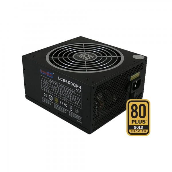 LC-Power LC6650GP4 V2.4, ATX-Netzteil GP4-Serie, 650W, 80+ GOLD