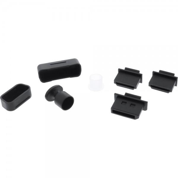InLine® Staubschutz-Set, für Video-Schnittstellen, 7-teilig