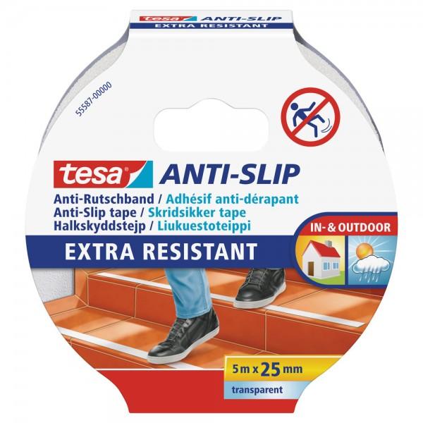 tesa Anti-Rutschband, transparent, 5m x 25mm