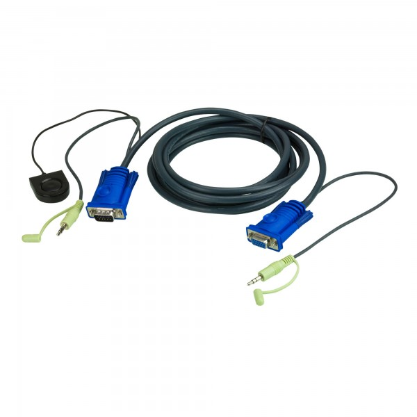 ATEN 2L-5205B KVM Switching Kabelsatz, VGA, Audio, Schalter, Länge 5m