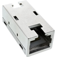 InLine® Patchkabelkupplung Cat.6A, Superslim, 2x RJ45 Buchse, geschirmt
