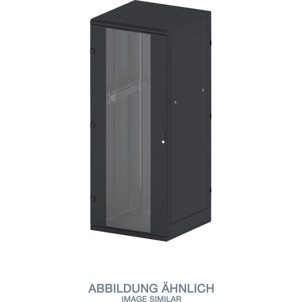 """Triton RTA-42-A66-BAX-A1 19"""" Netzwerkschrank 42HE, 600x600mm, Glastür, schwarz"""