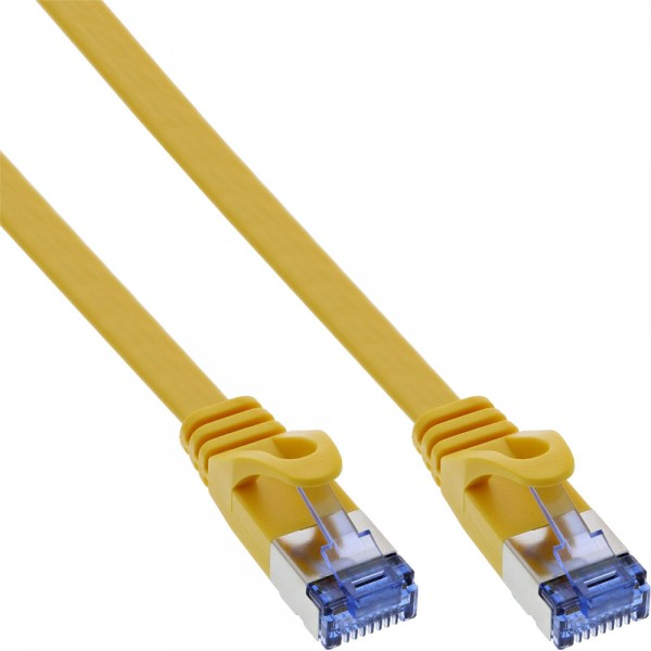 InLine® Patchkabel flach, U/FTP, Cat.6A, gelb, 1,5m