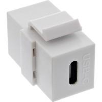 USB 3.1 Snap-In Einsatz, USB-C Buchse / Buchse, weiß