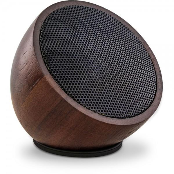 InLine® woodwoom, Mini Bluetooth Walnuss-Holz Lautsprecher, 52mm