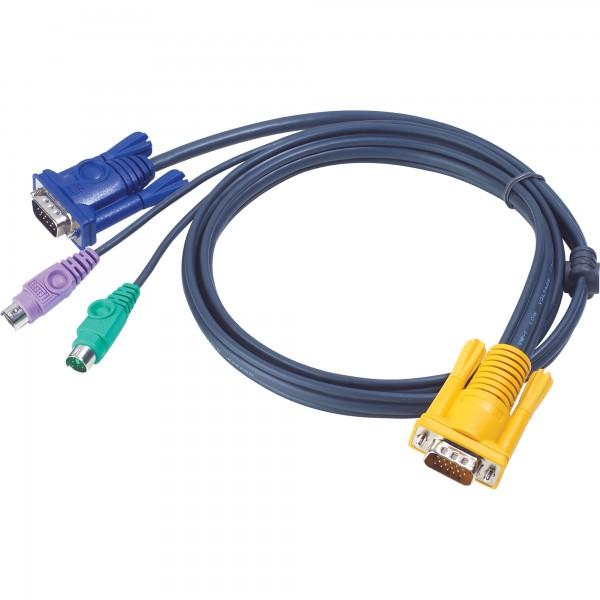ATEN 2L-5210P KVM Kabelsatz, VGA, PS/2, Länge 10m