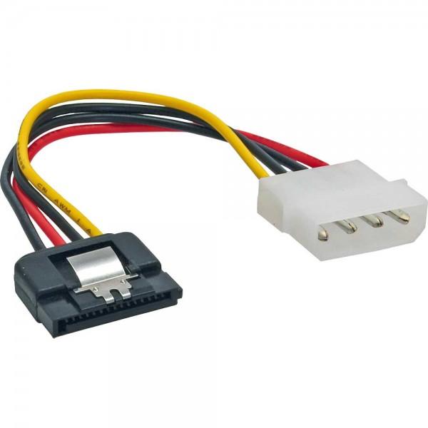 """InLine® SATA Stromadapterkabel, 1x 13,34cm (5,25"""") Buchse an 15pol SATA Stecker, 0,3m, m. Lasche"""