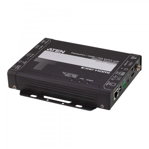 ATEN VE3912T DisplayPort / HDMI / VGA Switch mit HDBaseT Sender, bis 100m