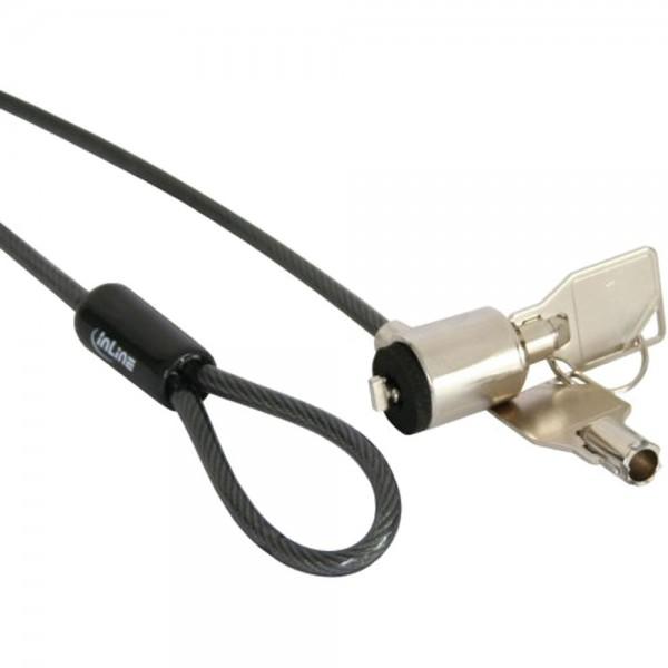 InLine® Notebook Sicherheitsschloss, mit Schlüssel, 4,4mm x 1,5m