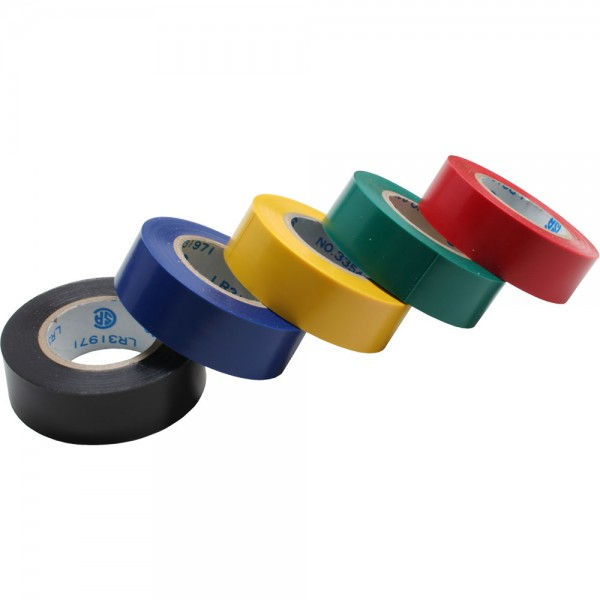 InLine® Isolierband, 5er Pack, div. Farben, 18mm, 9m