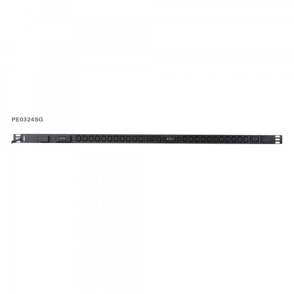 ATEN PE0324SG Stromverteilung 22-Port C13 + 2x C19 Basic PDU mit Überspannungsschutz