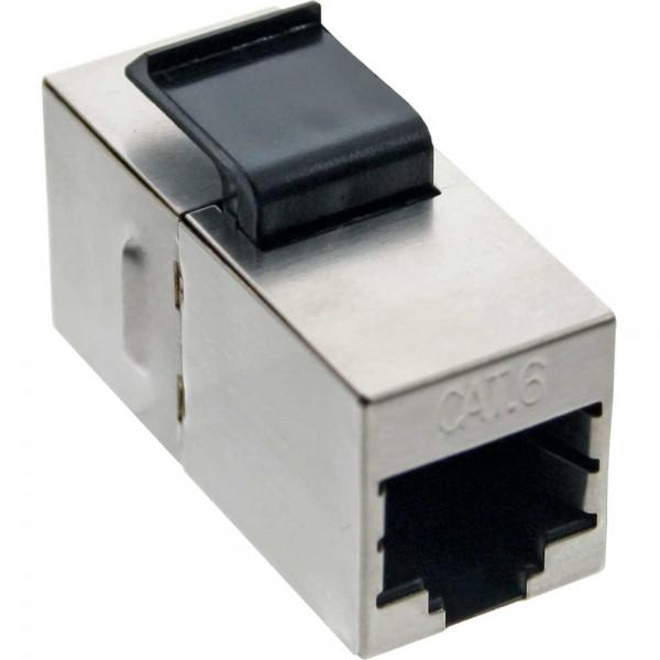 InLine® Keystone RJ45 Buchse / Buchse Einsatz, SNAP-In, Cat.6, STP, bulk