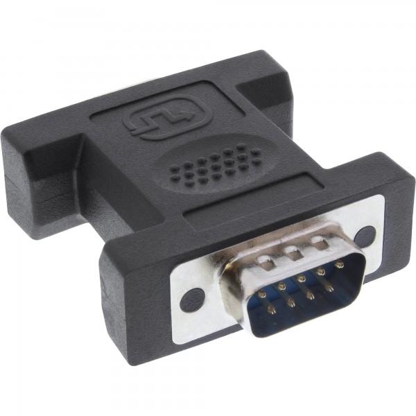 InLine® Mini-Gender-Changer, 9pol Stecker / Stecker, lange Bauform