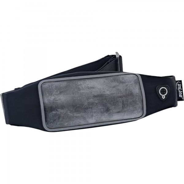[B-Ware] InLine® Sport Gürteltasche Mobile, mit Fenster, schwarz, stretch, Taillenumfang 78-130cm