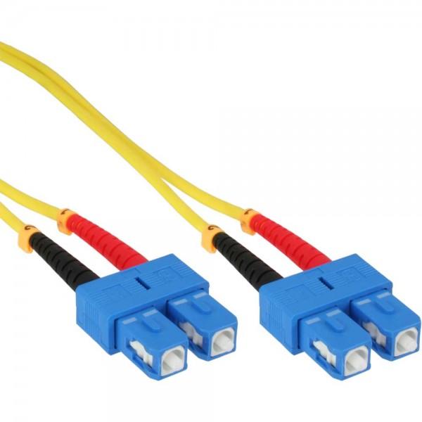 InLine® LWL Duplex Kabel, SC/SC, 9/125µm, OS2, 3m