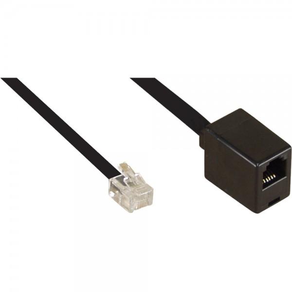 InLine® Modular Verlängerung, RJ12 Stecker / Buchse, 3m
