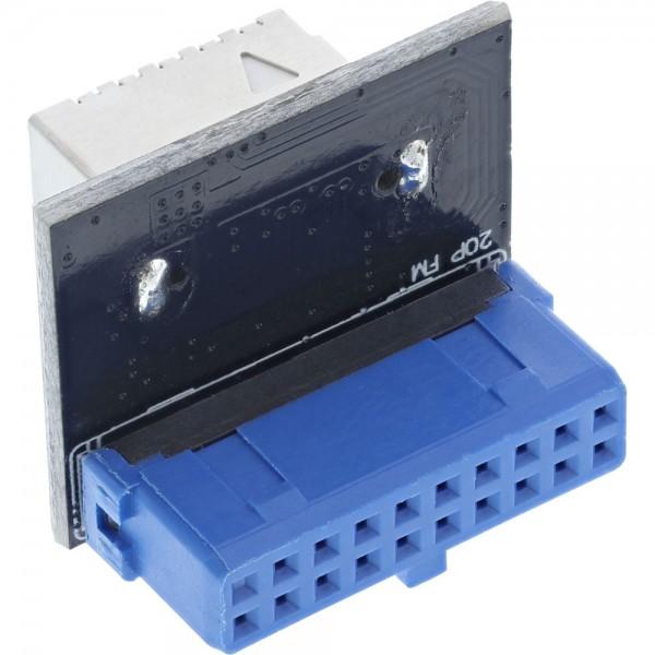 InLine® USB 3.0 zu USB 3.1 Frontpanel Key-B Adapter intern