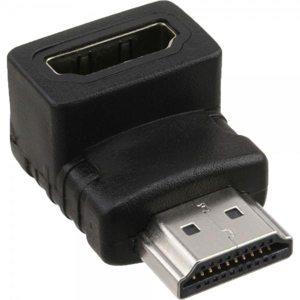 InLine® HDMI Adapter, 19pol Stecker / Buchse, gewinkelt, 4K2K kompatibel