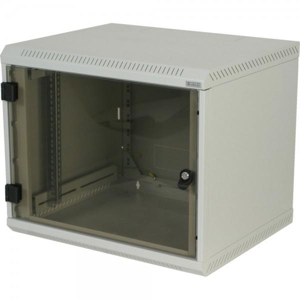 """19"""" Wandschrank 4HE, Triton RBA-04-AS4-CAX-A1, 600x395, einteilig, Glastür, lichtgrau"""